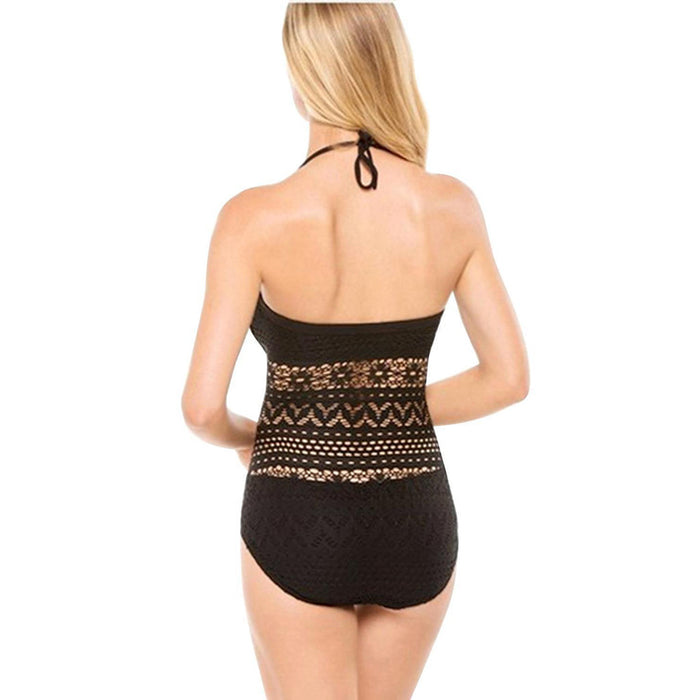 Chicloth American Oxygen Black Crochet Swimsuit-Chicloth