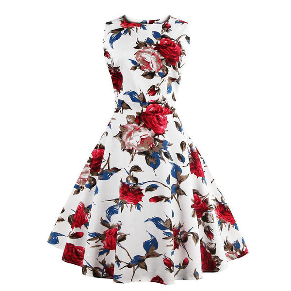Chicloth Another Bite the Spring Flowers Dress-Chicloth