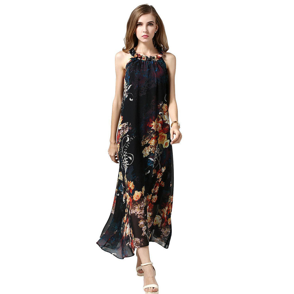 Chicloth Any way High Neck Chiffon Dress-Chicloth