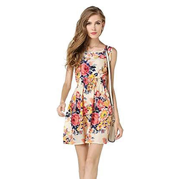 Chicloth Anything could Happen Vintage Floral Dress-Chicloth