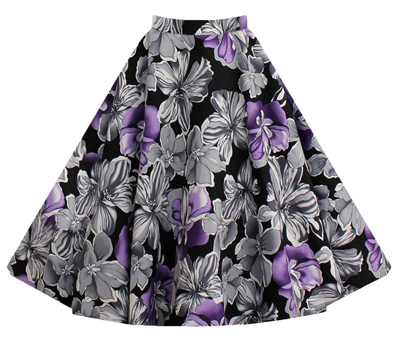 Chicloth Bang Bang A-line White Floral Skirt-Chicloth