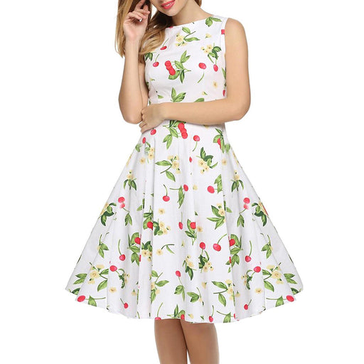 Chicloth Blowing in the Wind Floral Dress-Chicloth