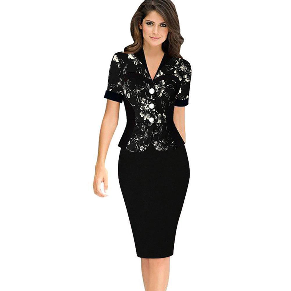 Chicloth Call Me Maybe Two-piece Work Dress-Chicloth