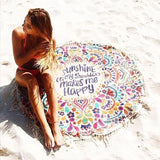 Chicloth Feel The Sunshine Tassel Beach Towel