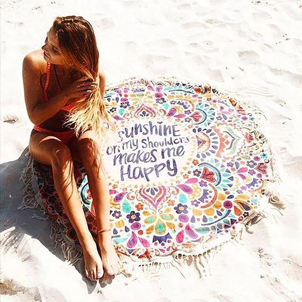 Chicloth Feel The Sunshine Tassel Beach Towel-Chicloth