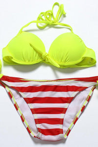 Chicloth Fluorescent Yellow Bikini Set - Chicloth