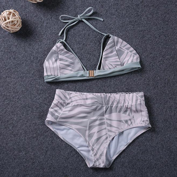 Chicloth Forever love Triangle Bikini Set-Chicloth