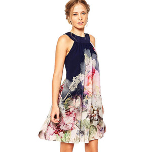 Chicloth Go Blind High neck Floral Dress
