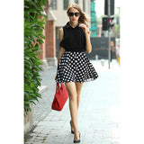 Chicloth Impossible Polka Dot Two-piece Dress