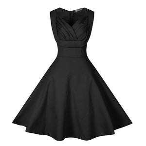 Chicloth it is Over Pleated Little Black Dress-Chicloth