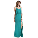 Chicloth Jealous Blue Split Front Slip Dress