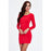 Chicloth Lady in Red Knitted Long Sleeve Dress-Chicloth