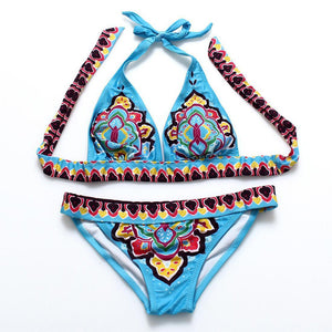 Chicloth Let Myself Go Printed Bikini Set