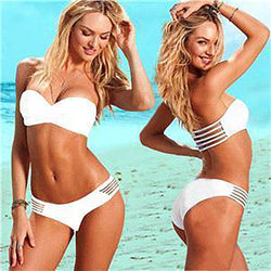 Chicloth nearness of your White Bandeau Bikini Set