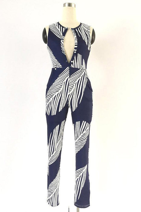 Chicloth Never been Better Plunge Jumpsuit-New Jumpsuits 1703-Chicloth