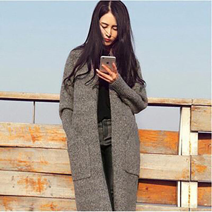 Chicloth Nothing Compares Gray Knitted Sweater-Chicloth