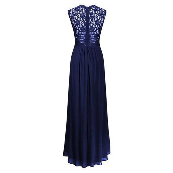 Chicloth Oh Donna Navy Blue Evening Dress-Chicloth