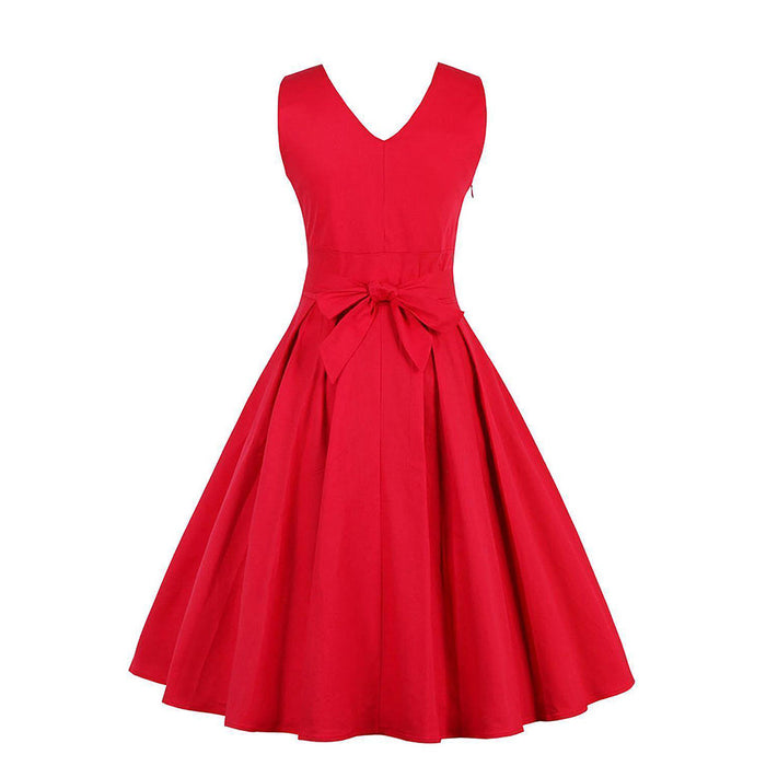 Chicloth Once in my Life Red Valentine Dress-Chicloth
