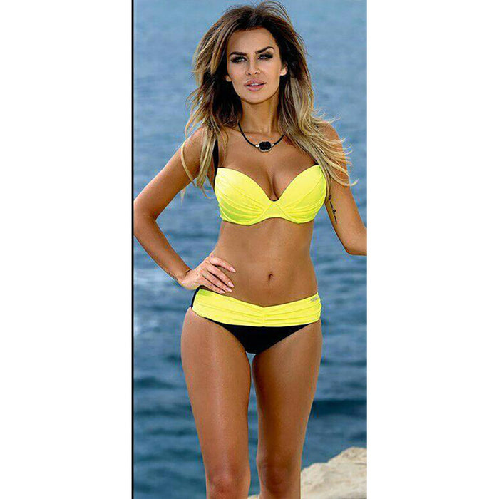 Chicloth Skyscraper Two toned Bikini Set-Chicloth