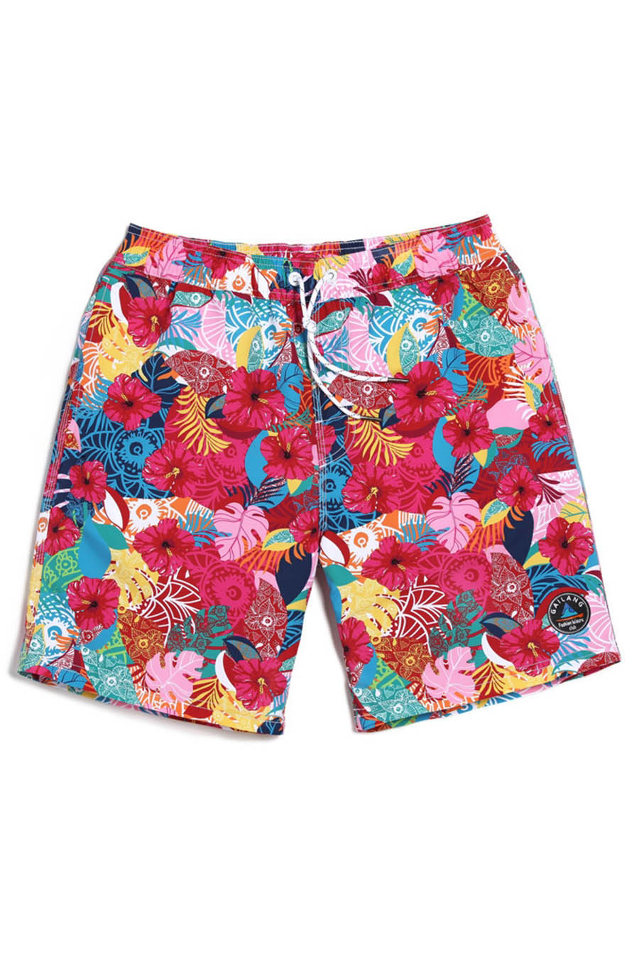A| Chicloth Floral Print Men's Swim Trunks Water Shorts Swimwear Casual Beach Shorts