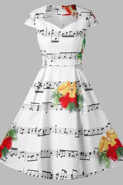 Chicloth 2018 Christmas Bell and Music Note Christmas Fashions-Christmas Fashions-Chicloth