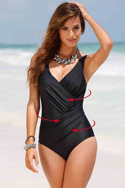 A| Chicloth Plus Size Bikini Retro Vintage One Piece Swimsuit