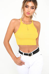 A| Chicloth Fashion Cami Women Solid Cropped Camisole Sexy Vest-Chicloth