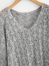 Load image into Gallery viewer, V Neckline Open Knit Sweater