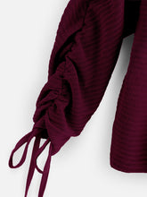 Load image into Gallery viewer, Drawstring Sleeve Sweater