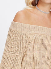 Load image into Gallery viewer, Off The Shoulder Solid Jumper