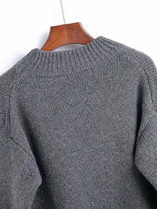 Solid Drop Shoulder Jumper