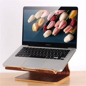 Natural Wood Laptop Cooling Stand Holder