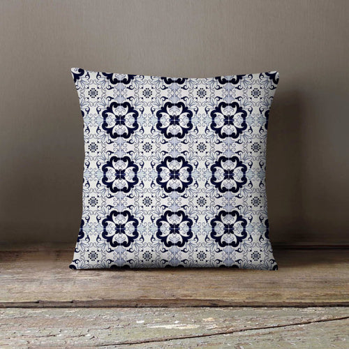 Morocco Tiles Portugal Throw Pillow Cover