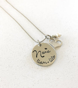 Mother's necklace - Grandmother's necklace - Name