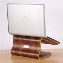 Load image into Gallery viewer, Natural Wood Laptop Cooling Stand Holder