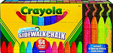 Load image into Gallery viewer, Crayola Washable Sidewalk Chalk, 64ct, Includes Glitter & Neon
