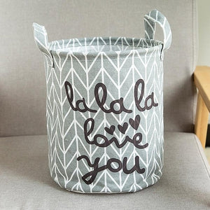Foldable 'Quiet time' Storage Bin