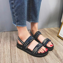 Load image into Gallery viewer, New Women Shoes Mixed Colors Elastic Band Flats