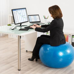 Exercise Ball Desk Chair - Desk View