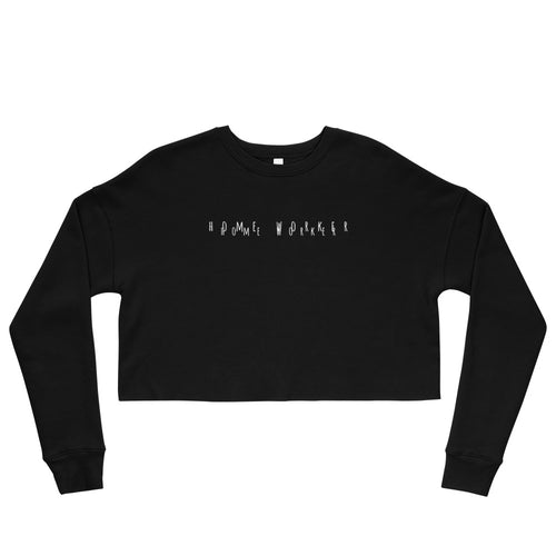 Home Worker Crop Sweatshirt