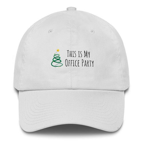 This Is My Office Party Holiday Cotton Cap
