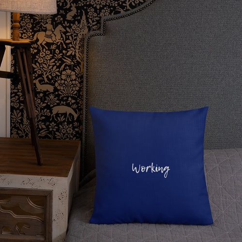 Working/Playing Home Office Pillow