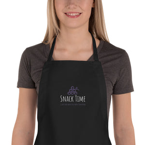 Snack Time Is Any Time When You Work From Home Embroidered Apron