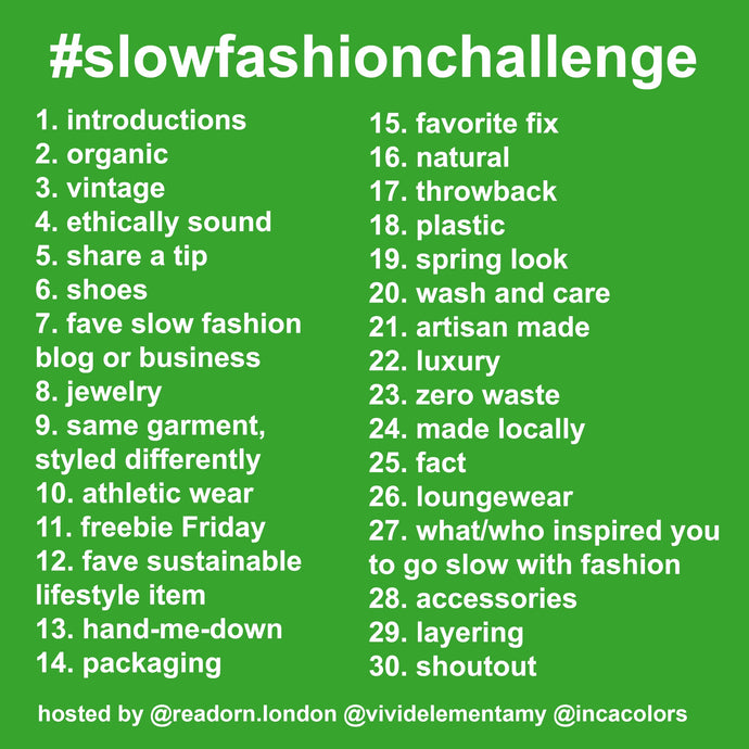 Slow Fashion Challenge 2018