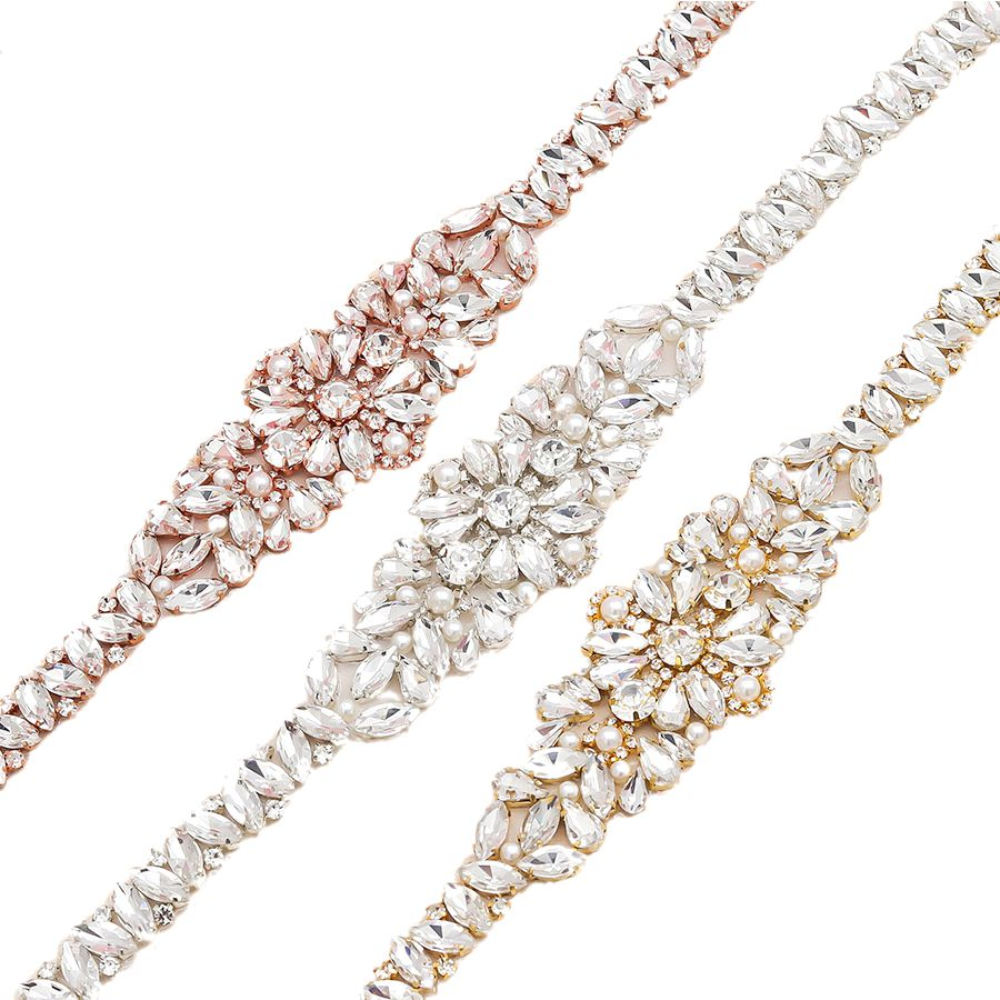 "All Around Skinny Bridal Dress Belt Rose Gold - ""Rachel"""