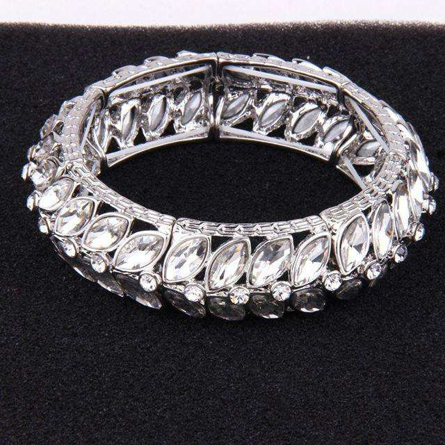 Vintage Wedding Bridal Crystal Bangle Bracelet