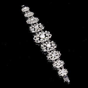 Vintage Style Crystal Bracelet for Weddings Art Deco