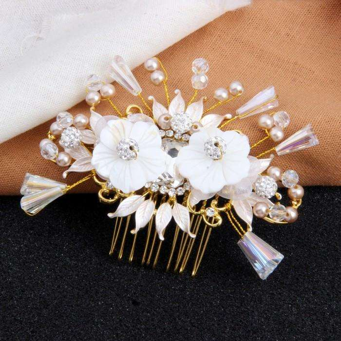 Flower Crystal Luxury Decorative Wedding Hair Comb