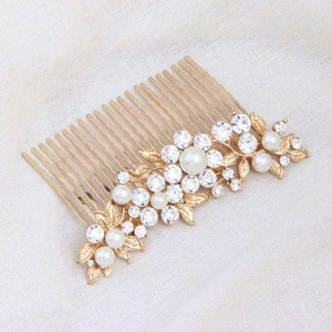 Decorative Bridal Hair Accessories Gold Hairpin