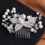 Leaf Floral Hair Combs For Wedding